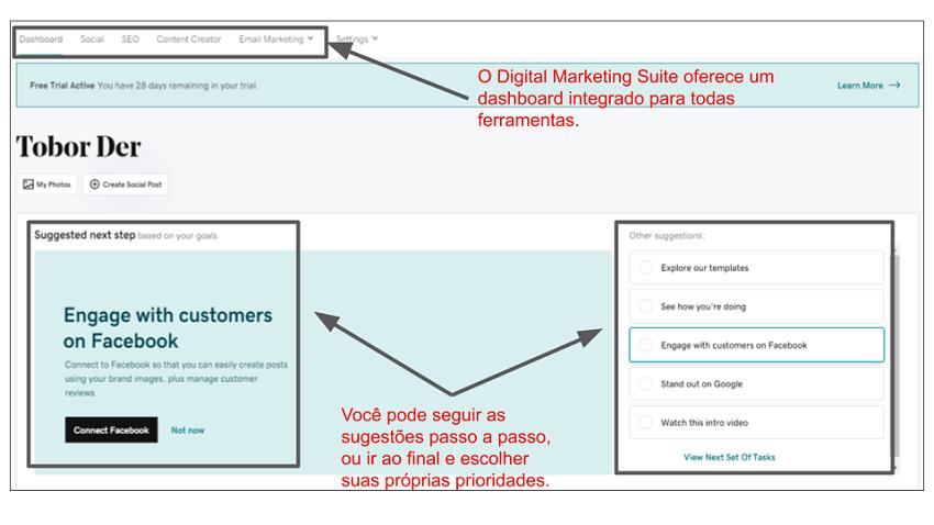 GoDaddy Digital Marketing Suite dashboard