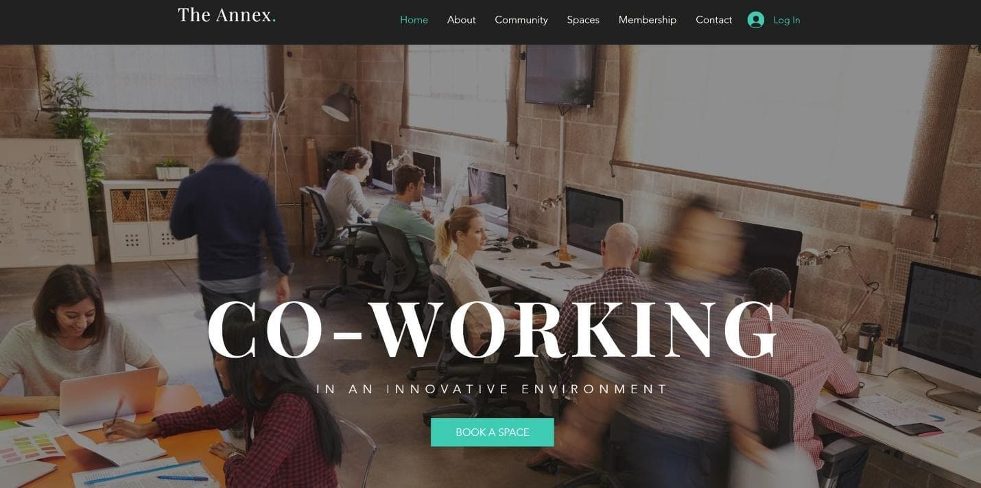 Wix Co-Working website template