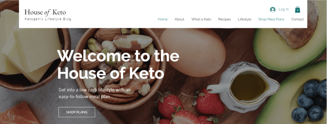 Wix House of Keto Template