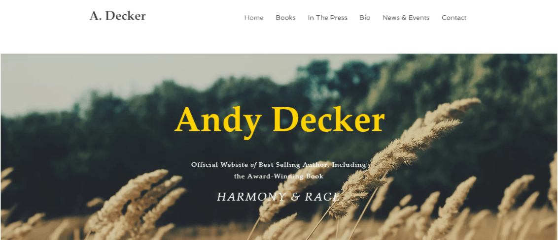 Wix Andy Decker Template
