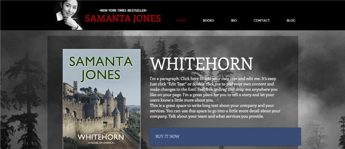 Wix Samanta Jones Template