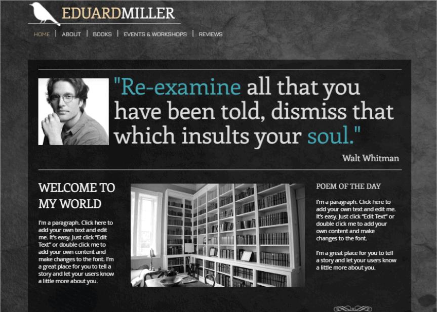 Wix Eduard Miller Template