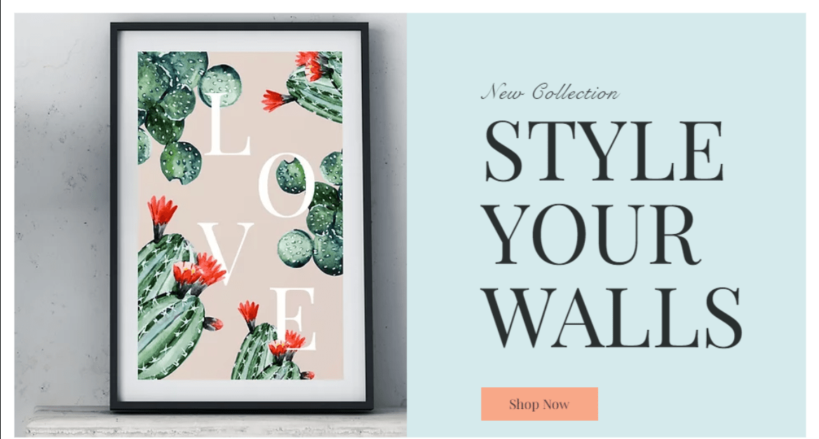 Wix Poster Gal Template