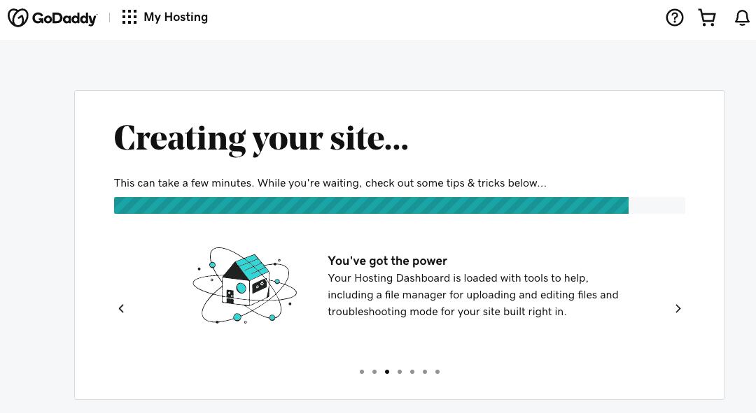 GoDaddy's WordPress Hosting