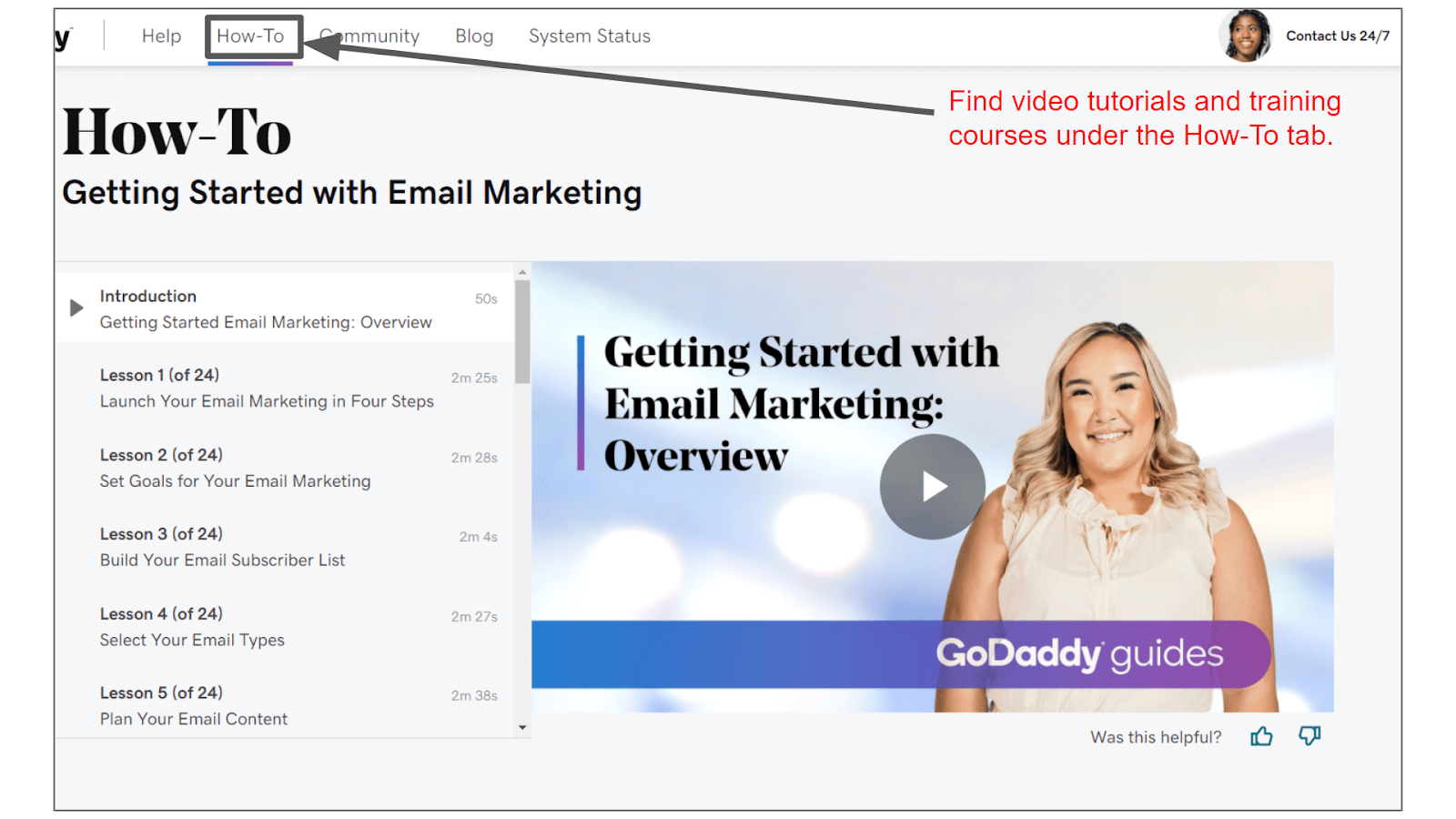 GoDaddy Email Marketing How-To Video Guide