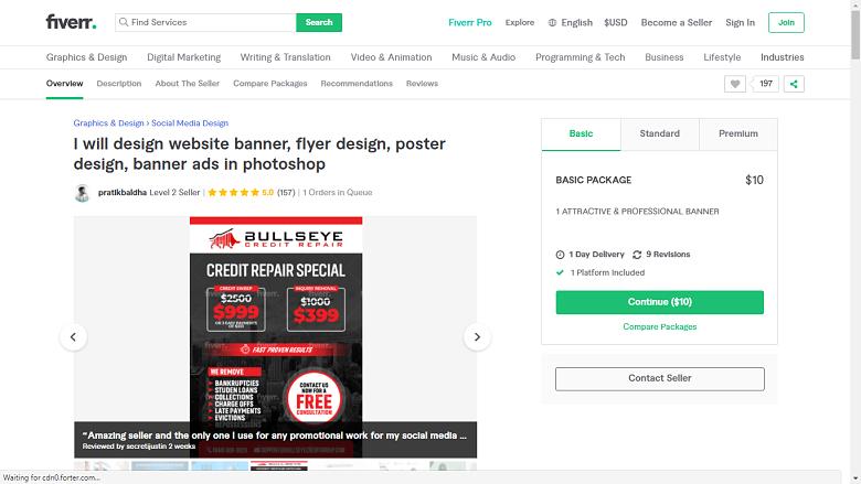 Fiverr screenshot - pratikbaldha photoshop designer gig