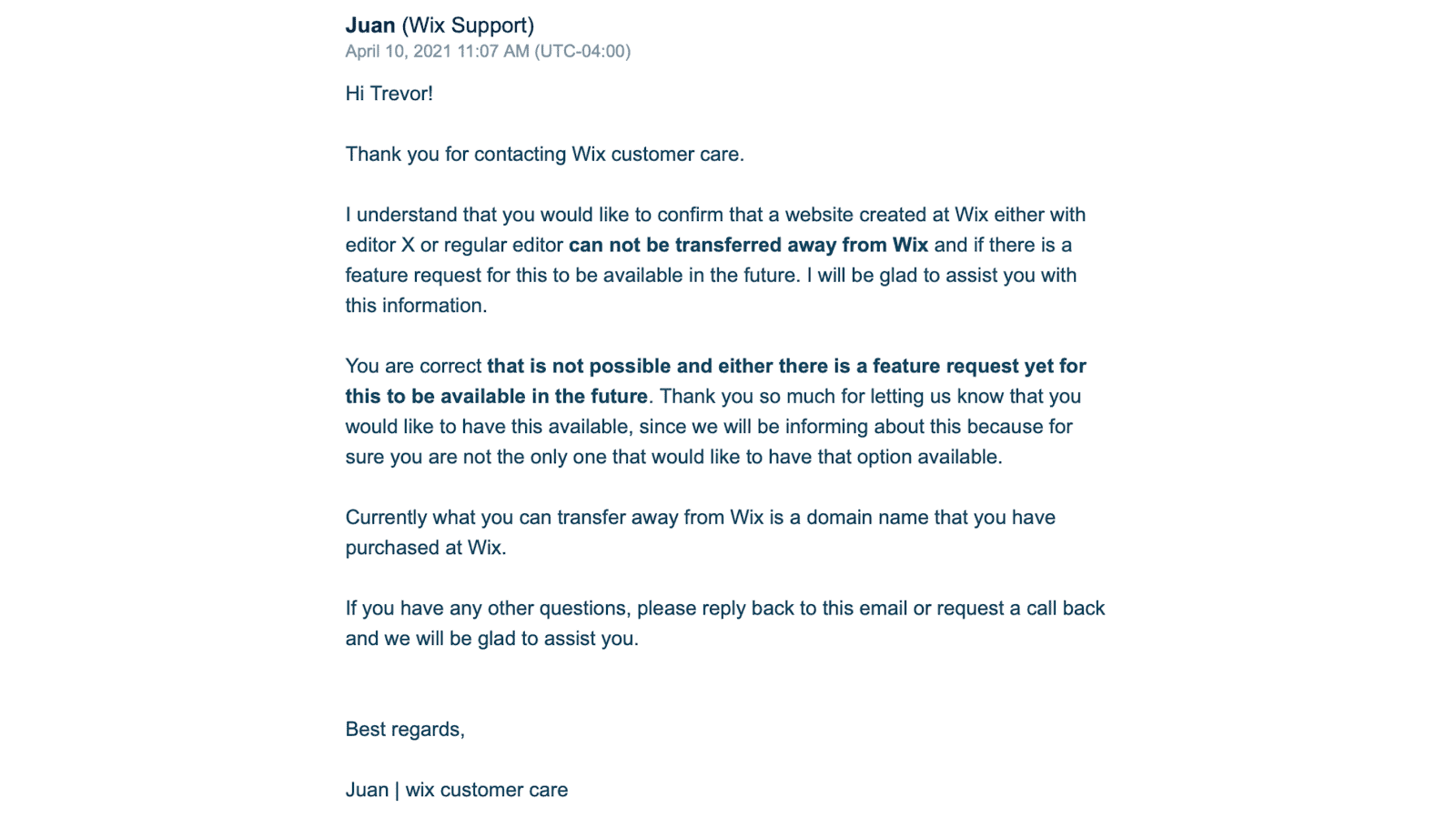 Wix and Editor X Customer Support