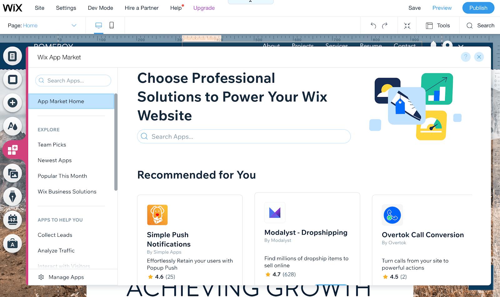 Wix - App Market