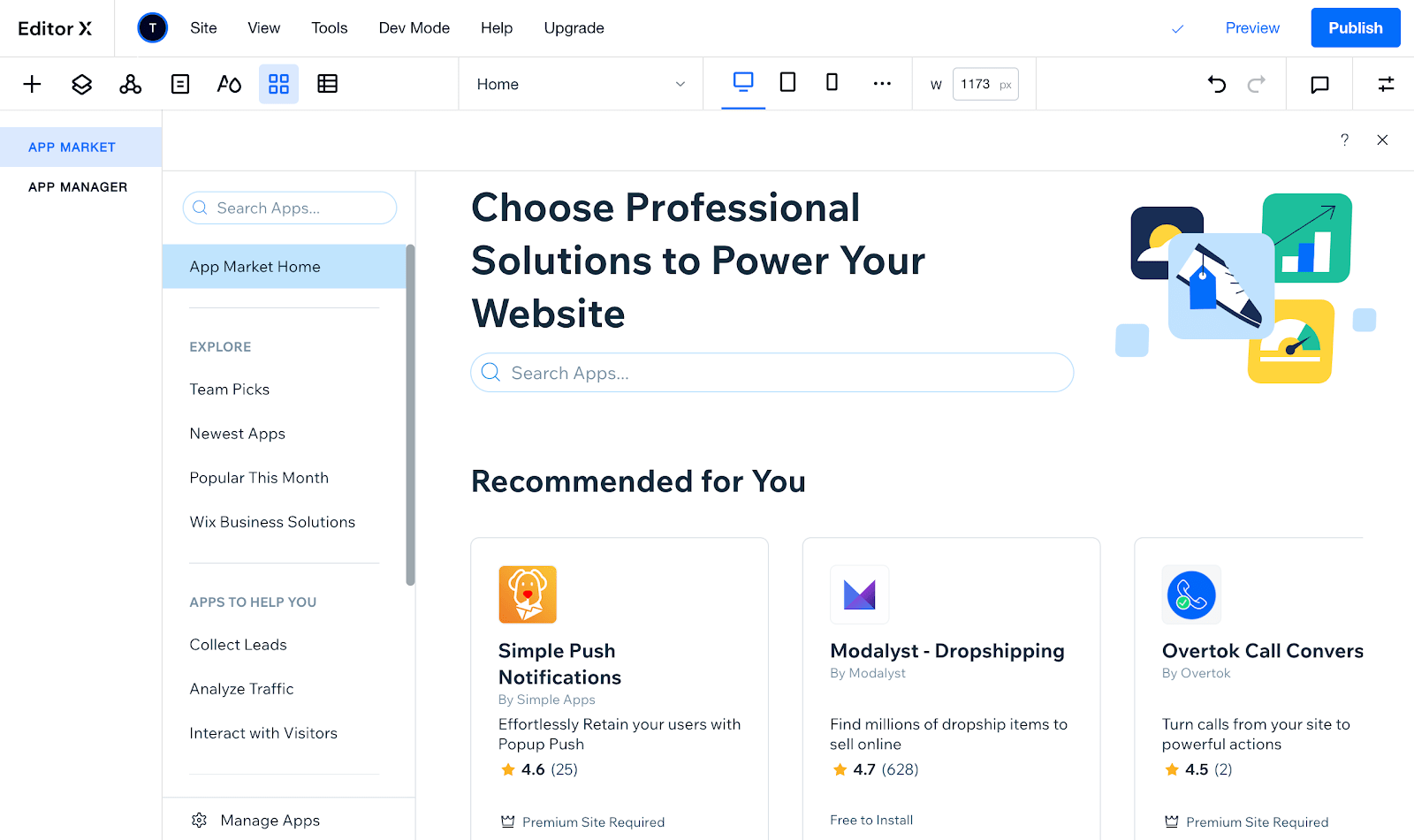Editor X - App Market