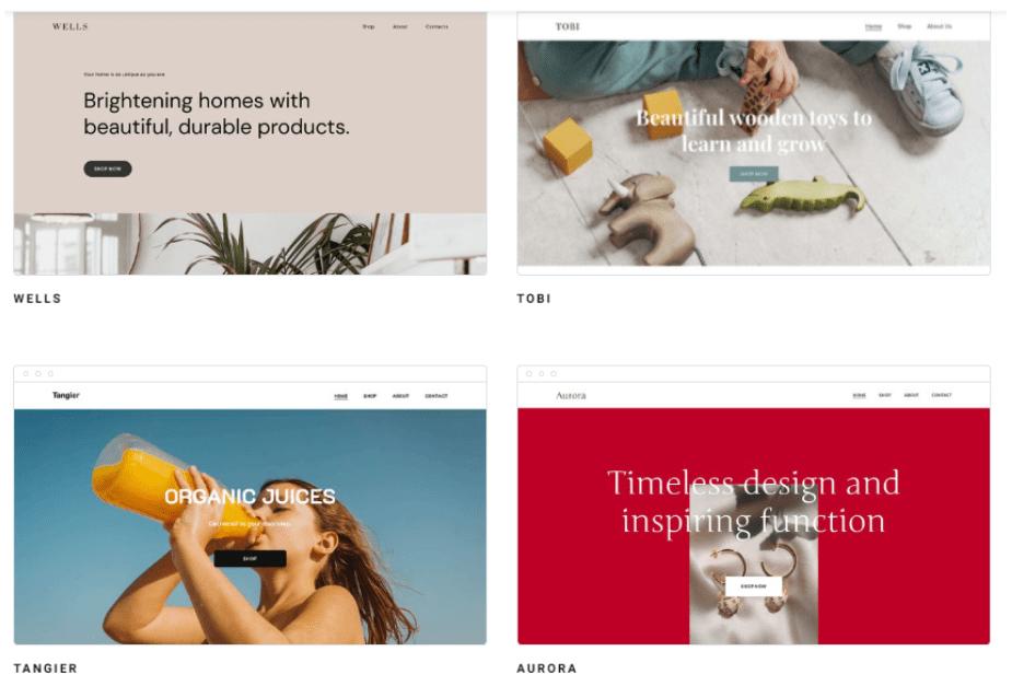 Template E-Commerce Zyro