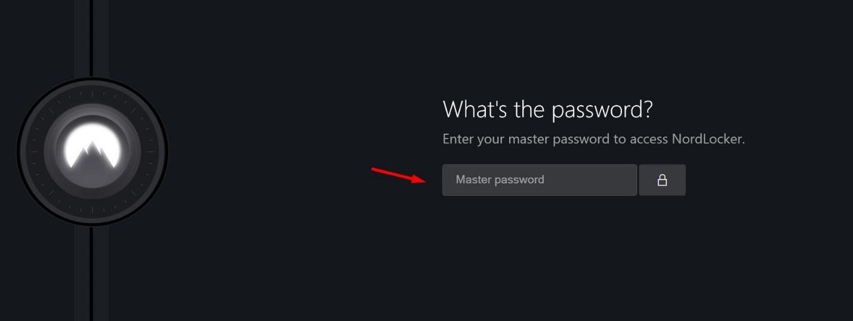 NordLocker uses a master password
