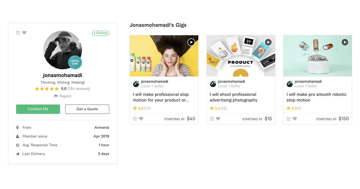 Fiverr profile – JonasMohamadi