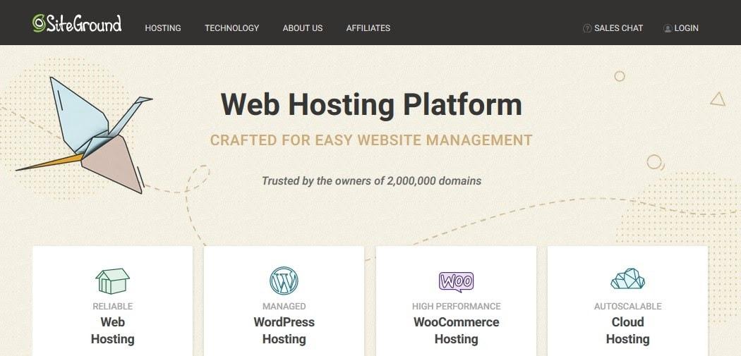SiteGround - managed WordPress hosting