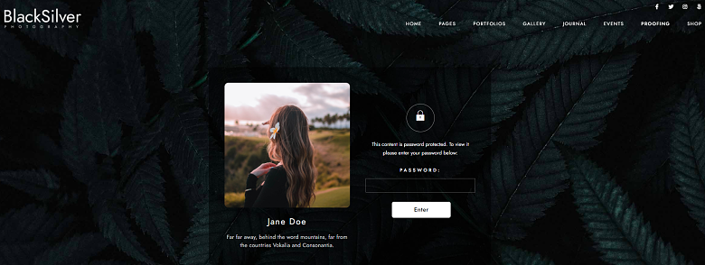 WordPress BlackSilver Theme Gallery Page