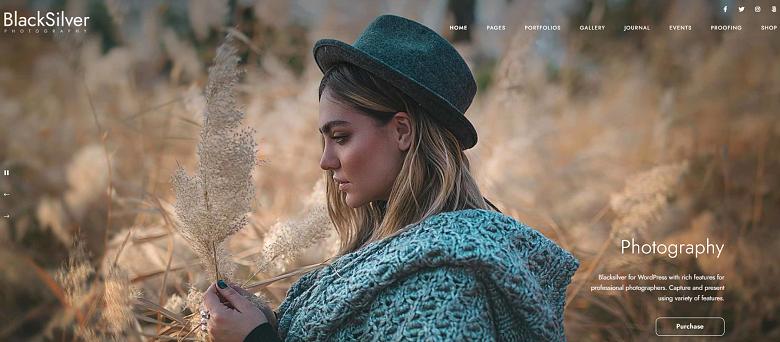 WordPress BlackSilver Theme Homepage
