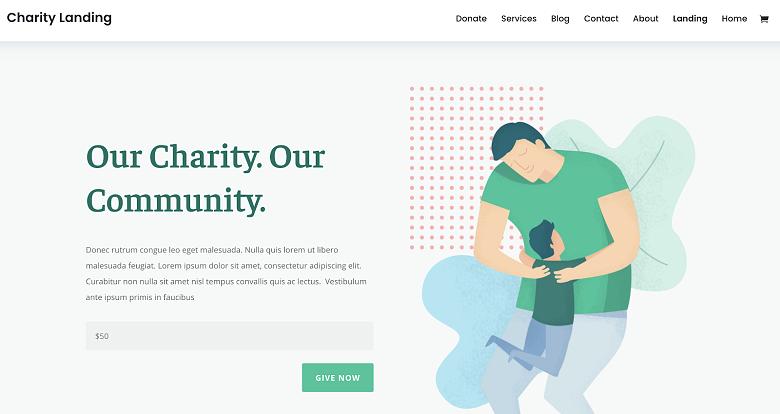 Elegant Themes WordPress theme for charity