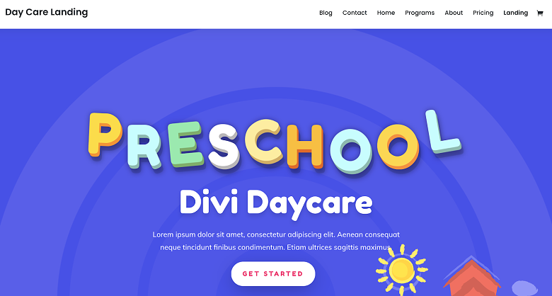 Elegant ThemesWordpress theme for daycares
