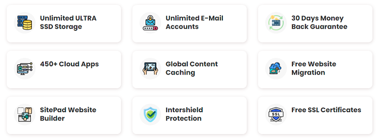 InterServer - shared hosting features