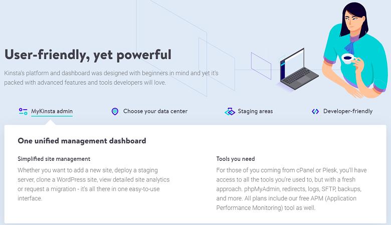 Kinsta - dashboard preview