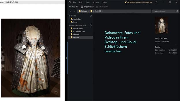NordLocker editing in desktop app