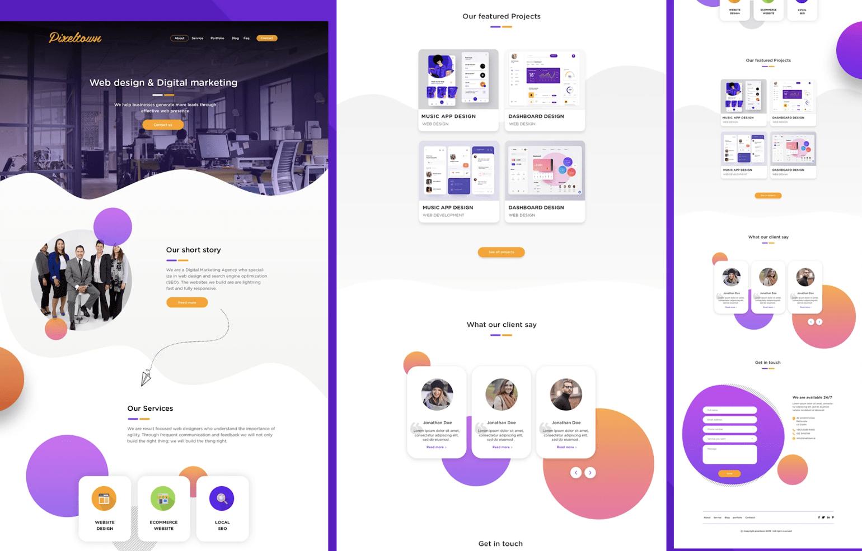 Website template design by mydesignbd via fiverr