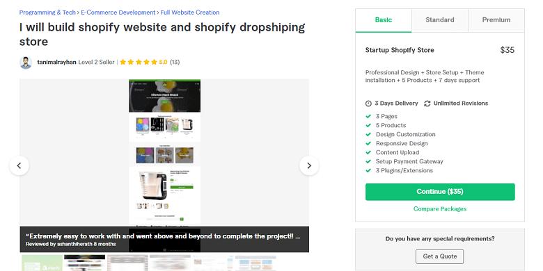 Tanimalrayhan Fiverr profile - Best Shopify Experts