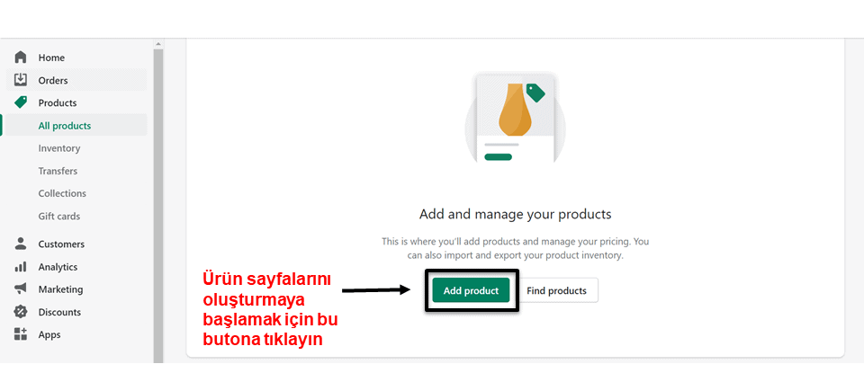 Shopify add product button