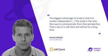 Integrations and communications using the good old email with eM Client