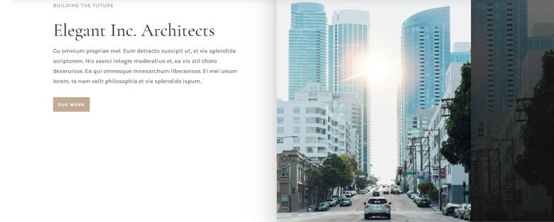 WordPress Architecture Firm Theme Homepage