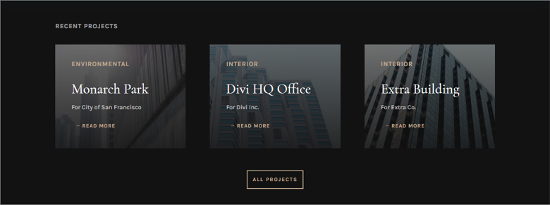 WordPress Architecture Firm Project Page