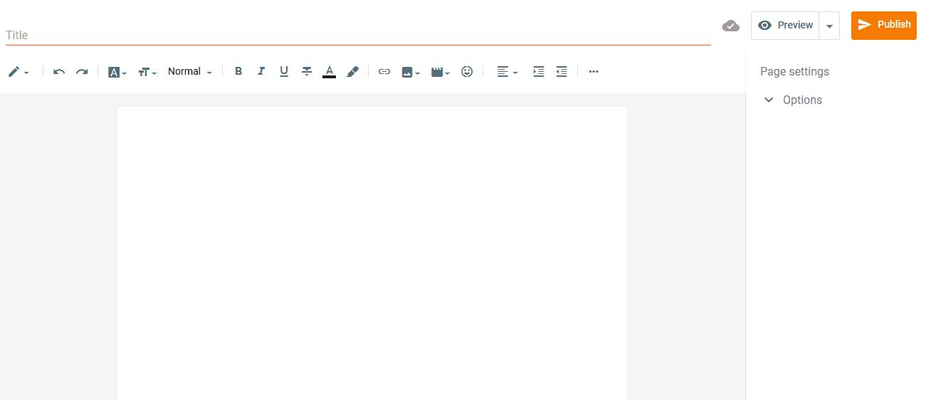 Blogger content editor