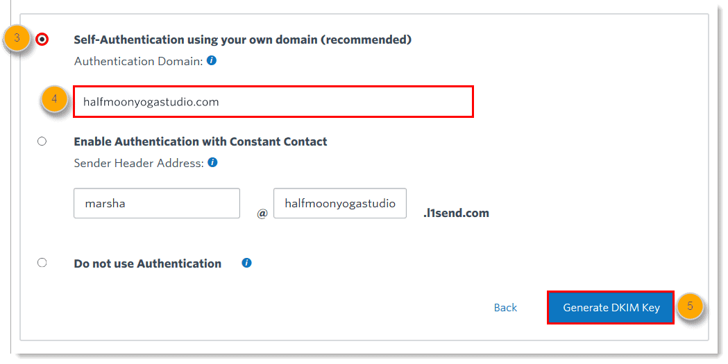 Constant Contact's DKIM setup guide