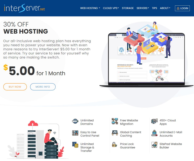 InterServer homepage