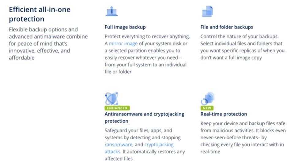 Acronis True Image Features