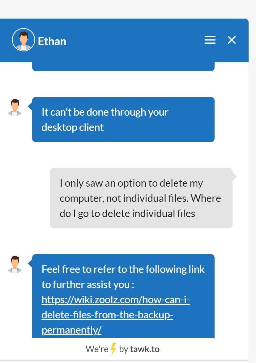 BigMIND online chat support