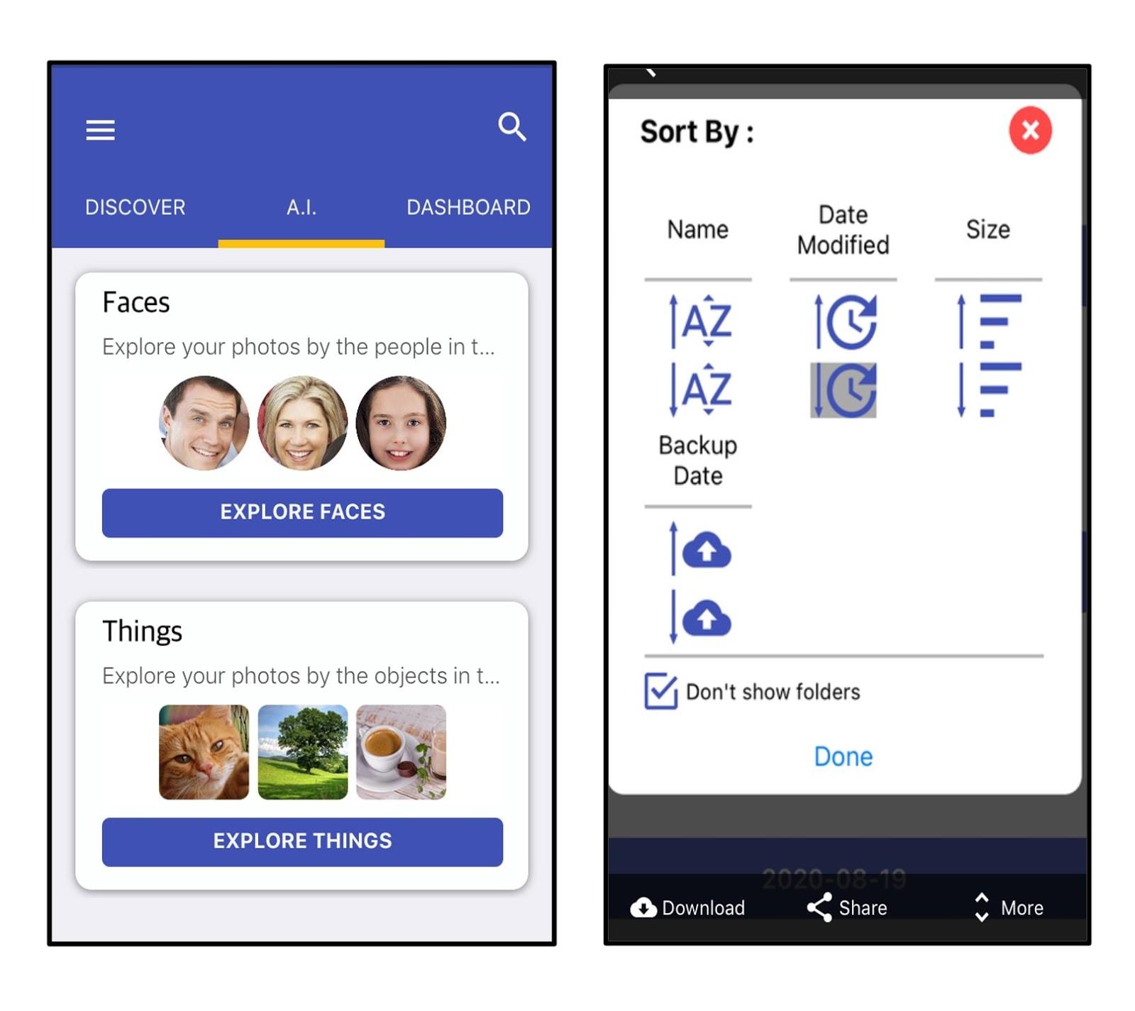 BigMIND mobile app AI tools