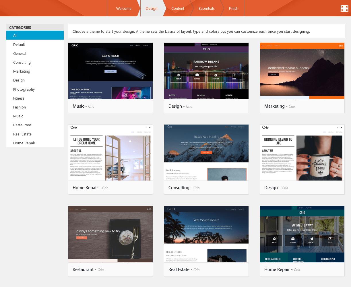 BoldGrid WordPress site themes