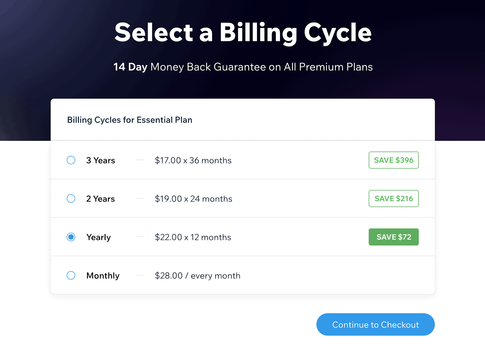 You get more value from Editor X paying yearly over month to month.