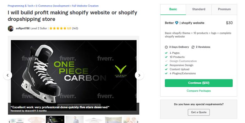 Softpvt786 Fiverr profile - Best Shopify Experts