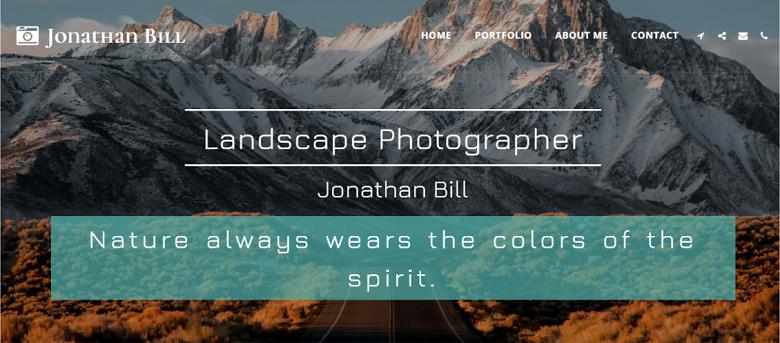 SITE123 Jonathan Bill Homepage