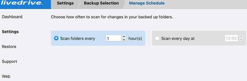 Livedrive scheduler manager