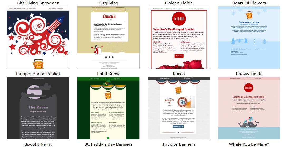 Mailchimp email templates