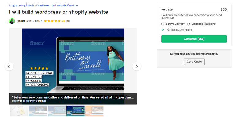 Ijlal101 Fiverr profile - Best Shopify Experts