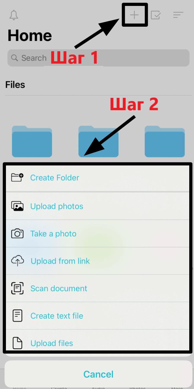 pCloud mobile app