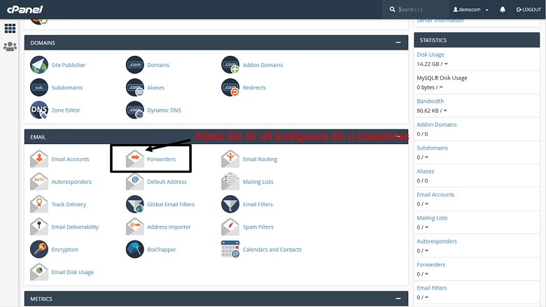 cPanel - main page 2