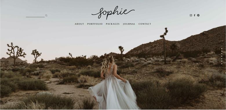 Squarespace Sophie Homepage