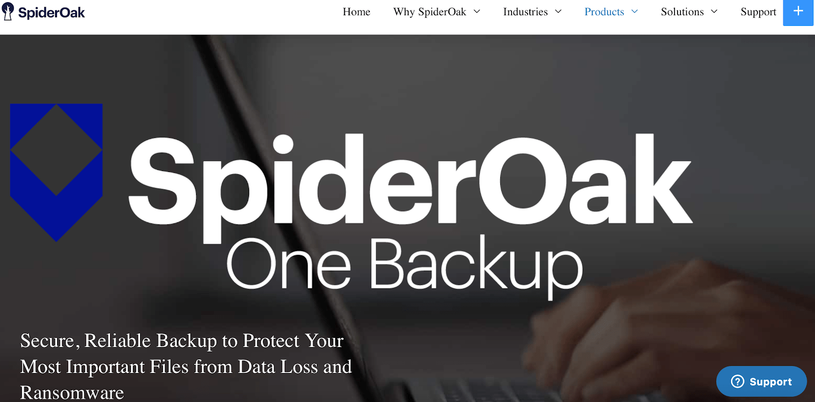 SpiderOak One home page