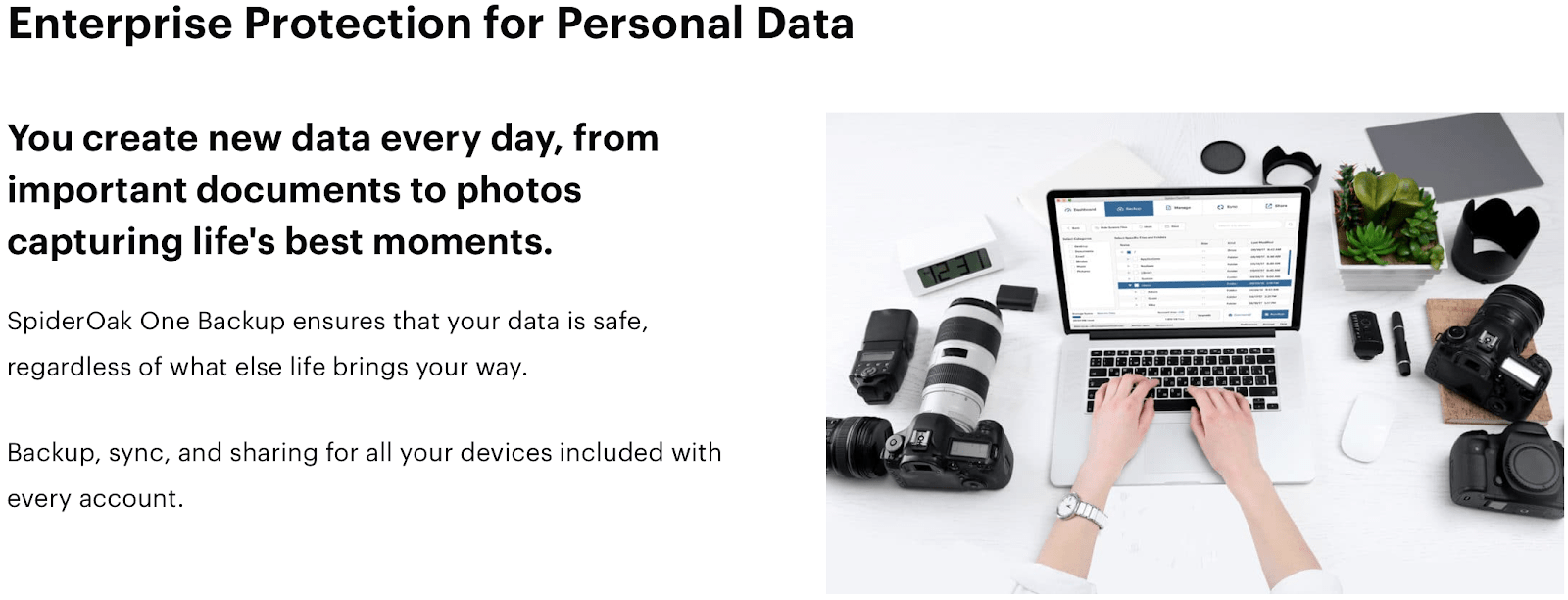 SpiderOak One personal data protection commitment