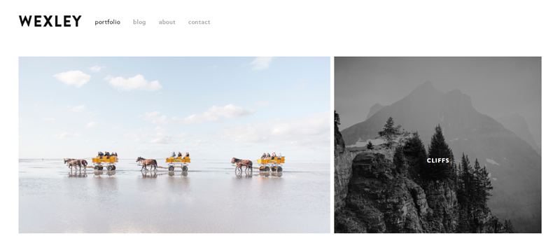 Squarespace Wexley Homepage
