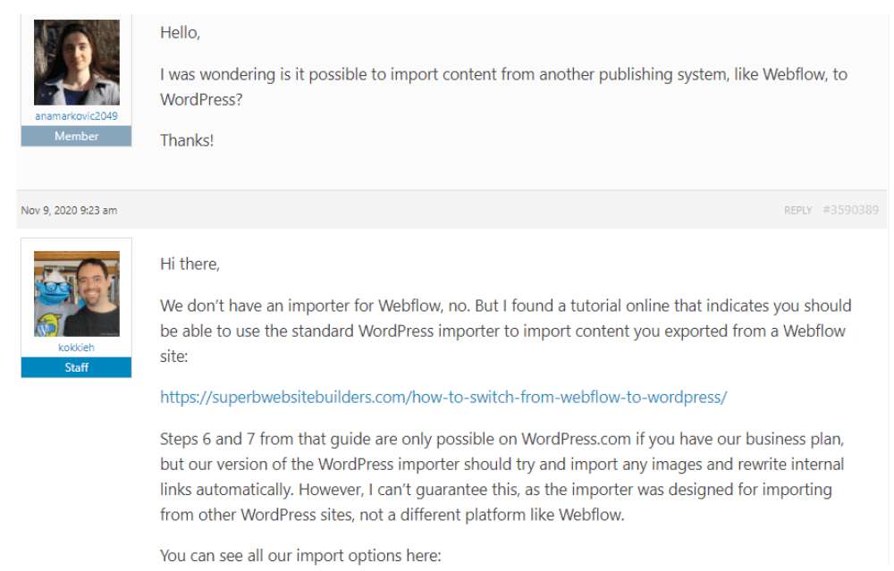 WordPress Community Forum